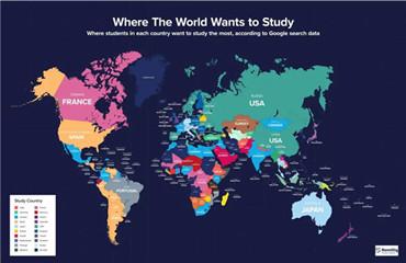 谷歌数据揭秘:全世界留学生zui理想的留学国家是加拿大!